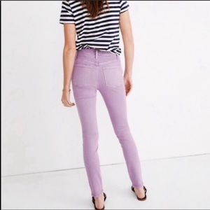 Madewell Lilac Lavender Purple Skinny Ankle Jeans